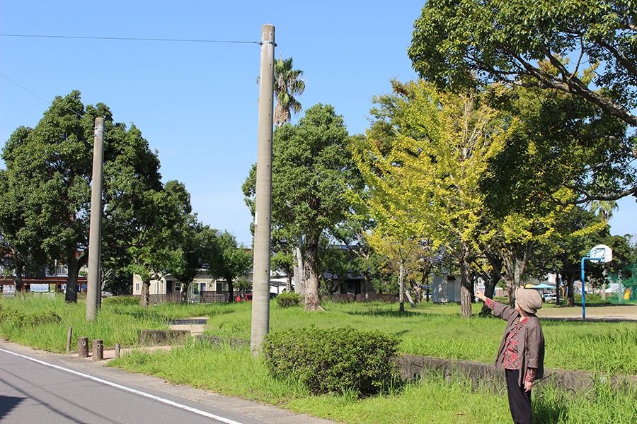 機銃掃射を受けた薩摩川内市中郷町付近