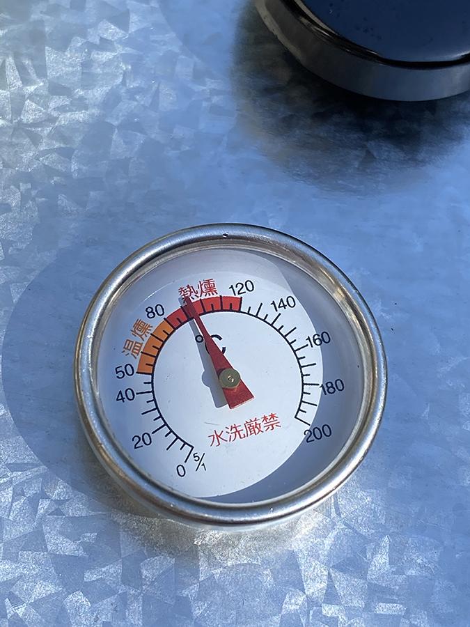 温度計は100℃くらい
